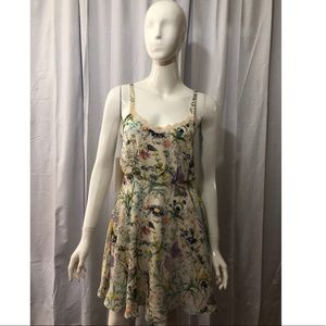 Lucca Couture Synched Waist Floral Dress